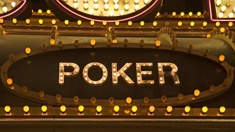 pokerskylt